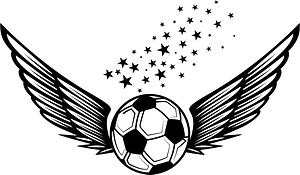 Football wings logotype clipart