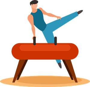 Gymnast on log clipart