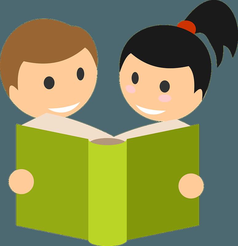 Children read book clipart. Free download transparent .PNG | Creazilla