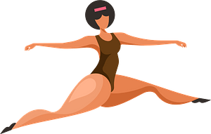 Dancing woman clipart