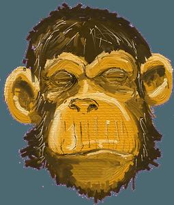 Ape head clipart