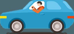 Man drives car clipart