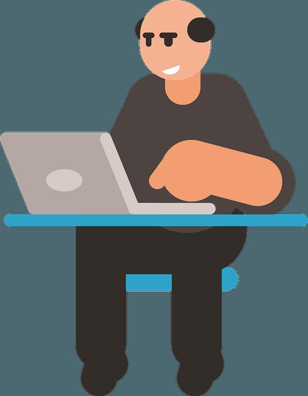 Grey laptop clipart free image