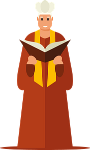Roman priest clipart