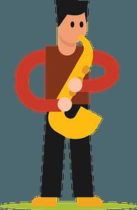 Saxophonist clipart
