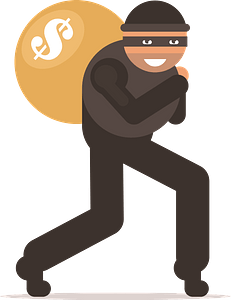 Thief with bag clipart