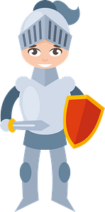 Boy medieval knight clipart