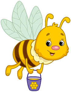 Bee carrying honey clipart