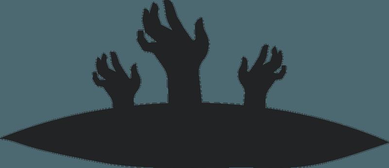 Transparent Zombie Hand Silhouette / Download this premium ...