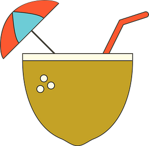 Coconut drink clipart