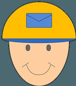 Postman face clipart