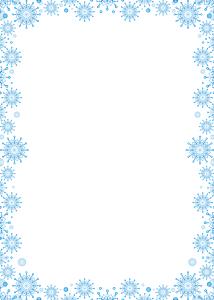 Snowflakes frame clipart