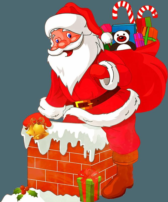 santa claus with presents clipart. free download transparent .png |  creazilla  creazilla