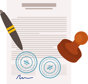 Business contract clipart