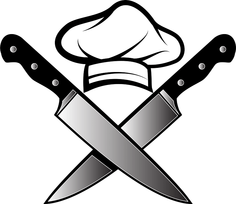 Chef Hat And Knives Clipart Free Download Transparent Png Creazilla Download chefs hat images and photos. chef hat and knives clipart free