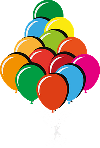 Color balloons clipart