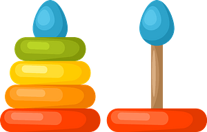 Colored toy clipart