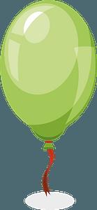 Green balloon clipart