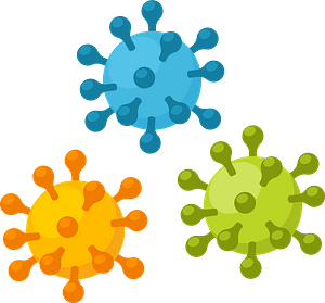 Colorful viruses clipart