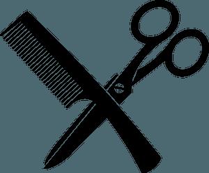 Comb and scissors clipart