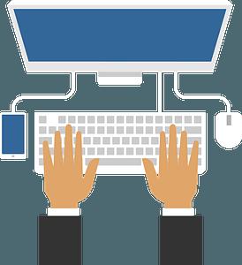 Computer work clipart