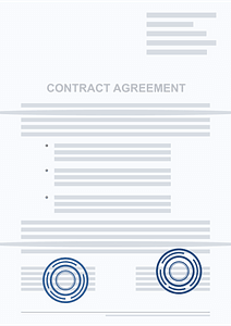 Contract agreement clipart