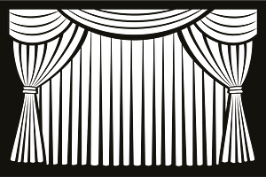 Curtain clipart clipart
