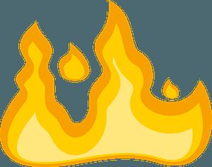 Flames fire clipart