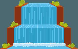 Flat waterfall clipart