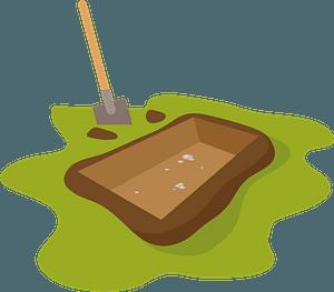 Fresh grave clipart