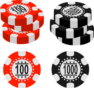 Gambling chips clipart