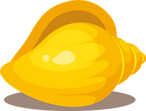 Gold sea shell clipart