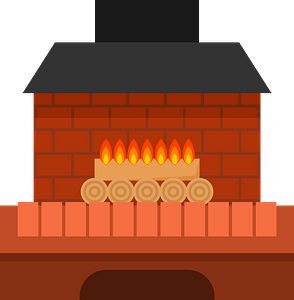 Home fireplace clipart