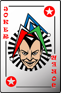 Joker card clipart