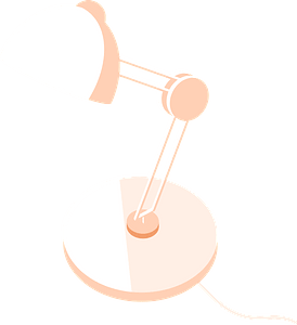 Lamp on desk clipart