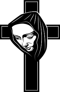 Mary cross clipart