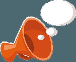 Megaphone speech bubble clipart