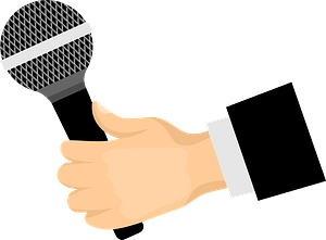 Mic in hand clipart