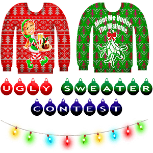 Ugly Sweater Contest Banner clipart