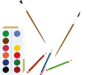 Paints paintbrushes clipart