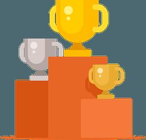 Podium trophies clipart