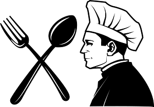 Restaurant chef logo clipart