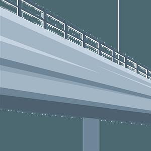 Road bridge clipart