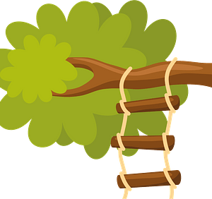 Rope ladder clipart