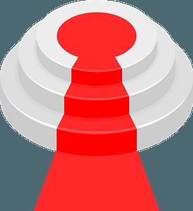 Round podium red carpet clipart