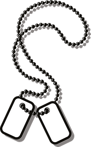Soldier tag clipart