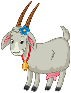 Goat with bell clipart