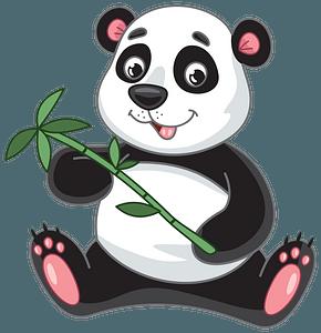 Panda bambu clipart