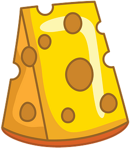 Piece of cheese clipart