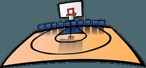 Half size baskeball court clipart
